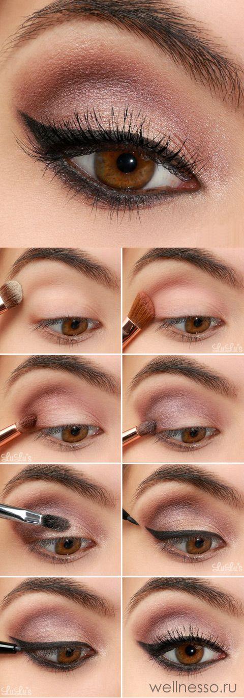 Ідеї макіяжу для карих очей — від повсякденного до вечірнього (50 ФОТО)