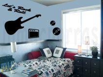 Un dormitorio con mucho Rock&Roll
