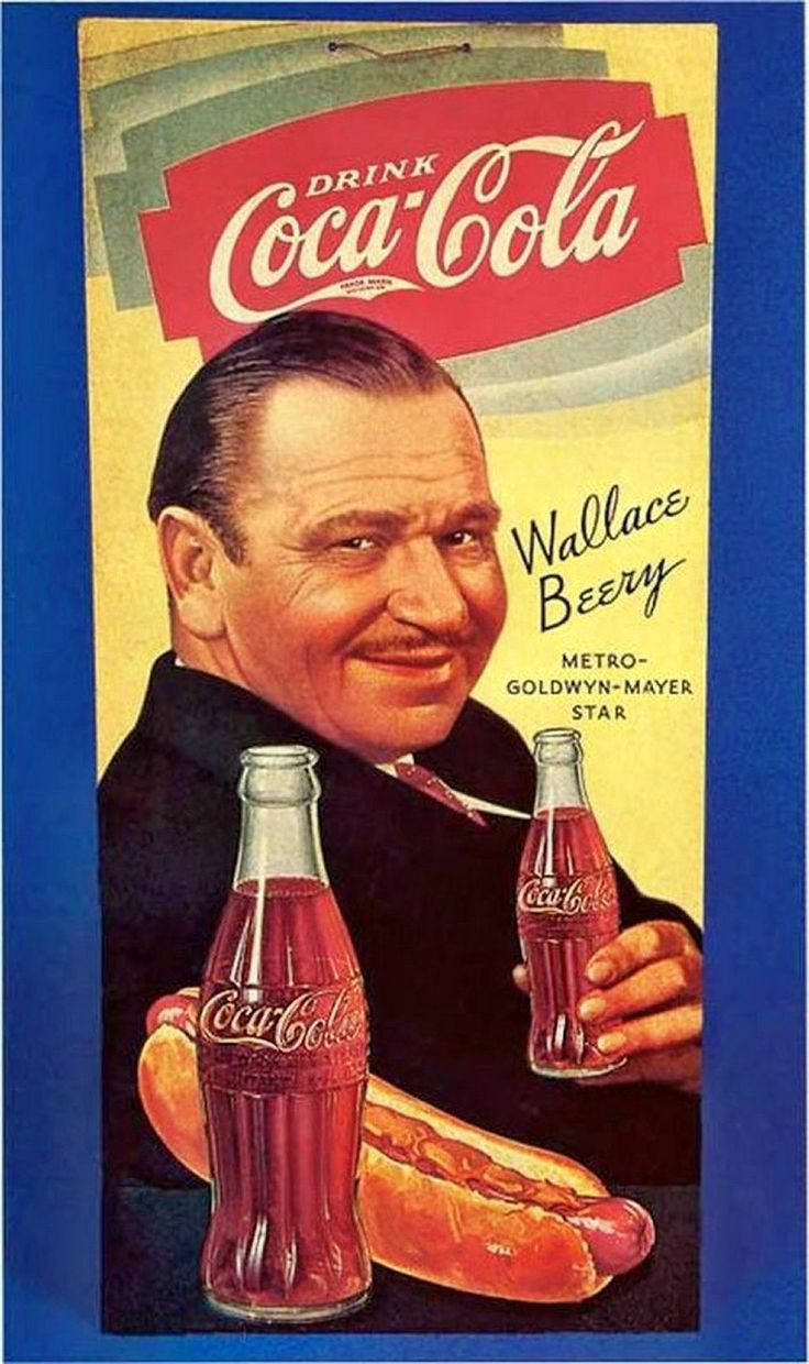Coca cola with wallace beery
