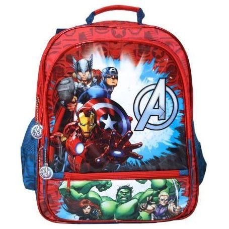 Avengers skoletaske, rygsæk - Rød & blå | Morango.dk