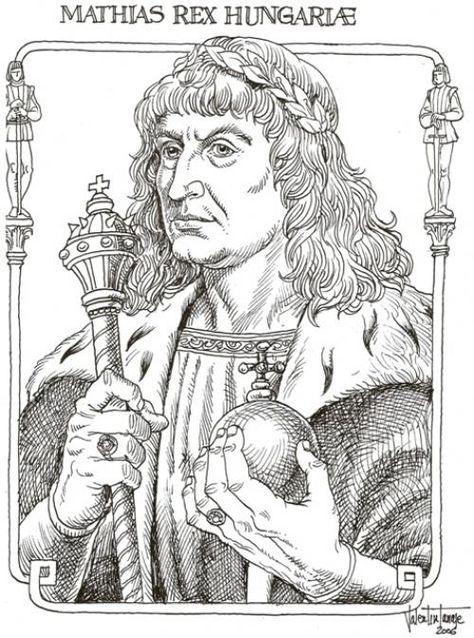 Mátyás király színező