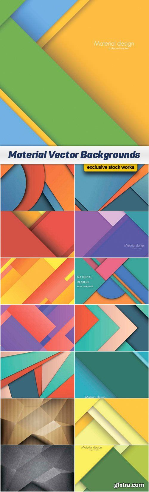 Material Vector Backgrounds - 15x EPS