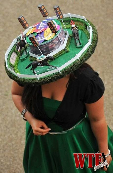 Horse Race Hat...nothing surprises me anymore :)