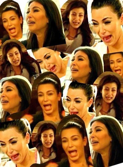 Khloe kardashian 39 s original collage of kim kardashian - Kim kardashian crying collage ...