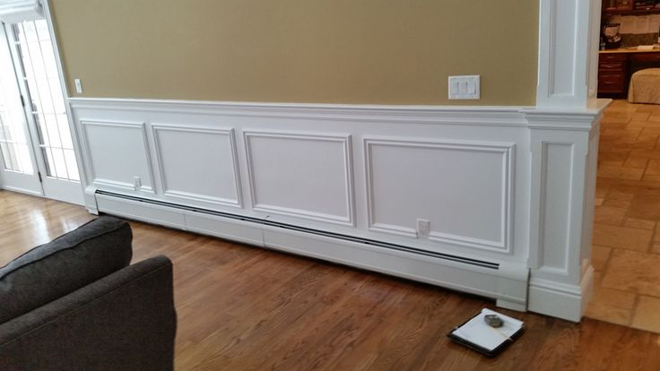 wainscotting over  baseboard heaters | Sunrise Woodwork