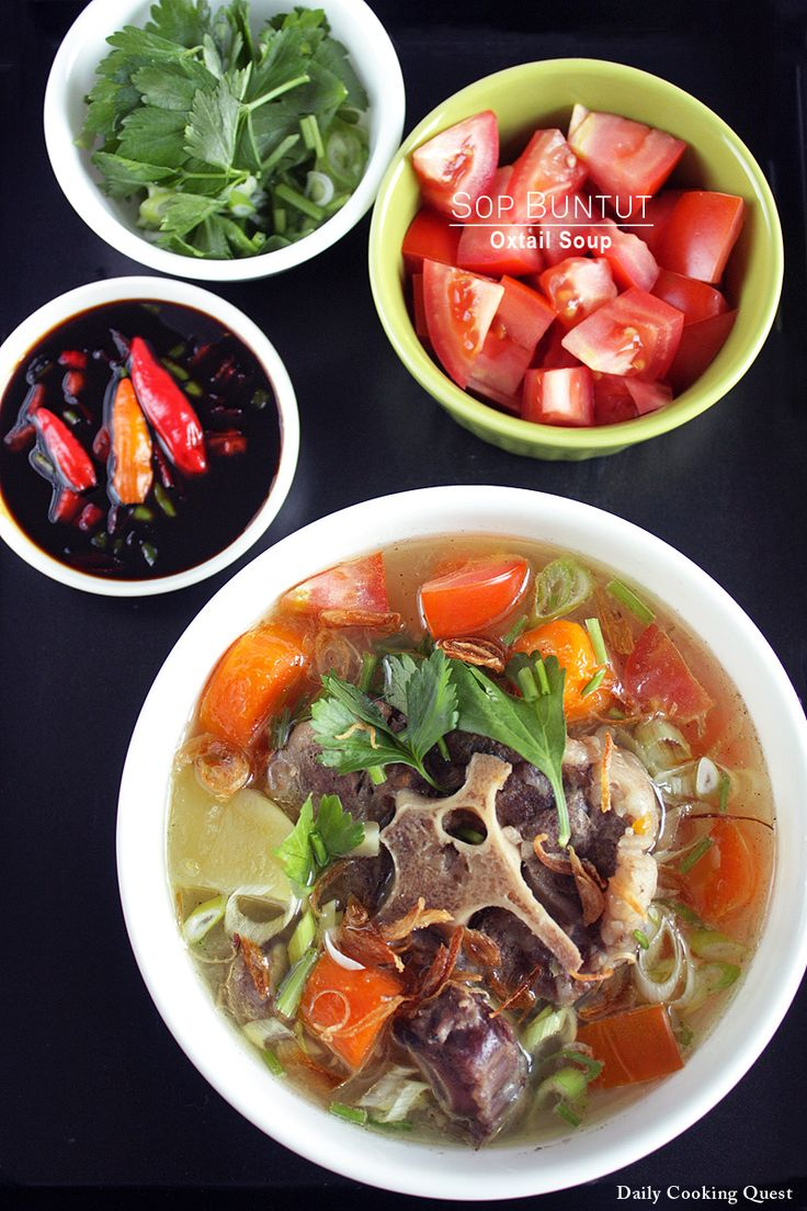 Sop buntut (oxtail soup) is very popular in Indonesia.