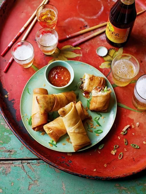 Spring Rolls  Similar to some special Thai rolls I used to get at a restaurant now closed. :)