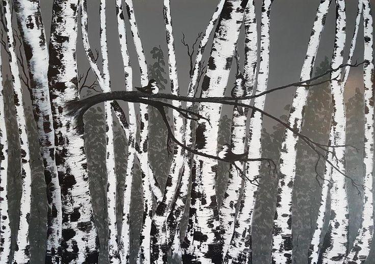 Acrylic on canvas Deep Edge - Gallety Wrap 90 x 100 cm 2016 Anne Grete Ljøstad