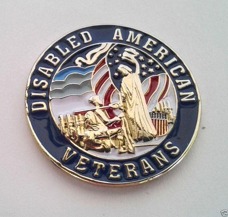 *** DISABLED AMERICAN VETERANS *** Military Veteran Hat Pin P62559 EE