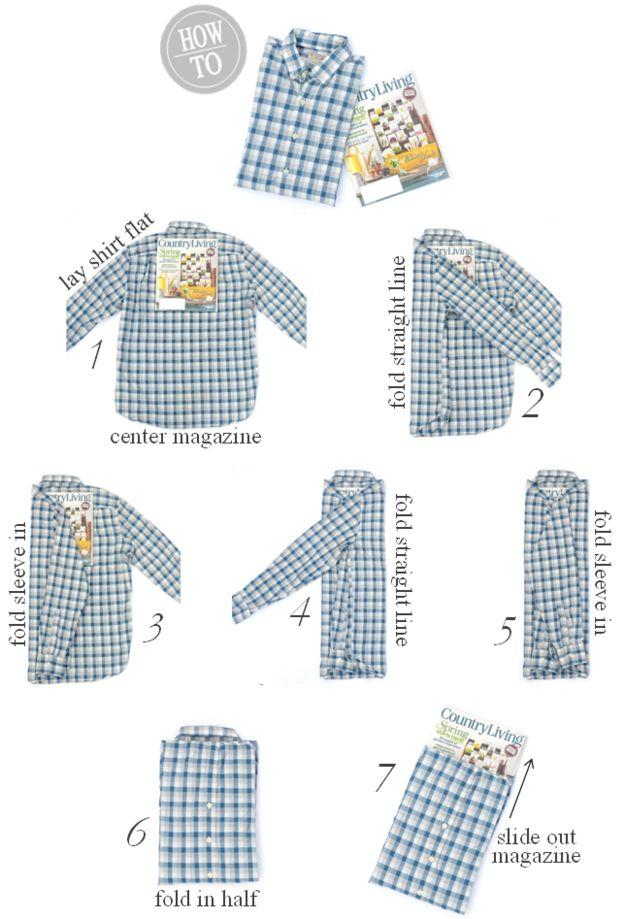 Una camisa | 25 tutoriales para que aprendas a doblar cosas como un verdadero adulto