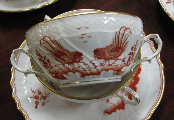 Richard GINORI Handled Bowls and Plates SIENA RUST Set of Six