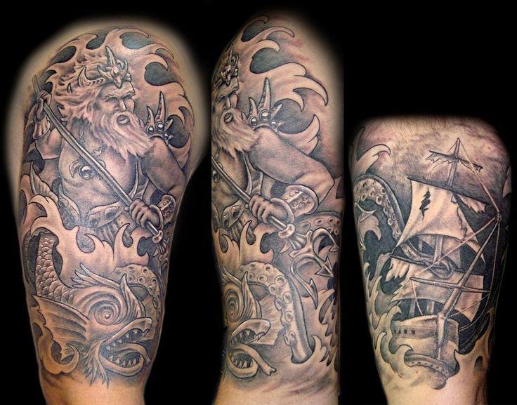 Tatuajes de Poseidón - http://www.tatuantes.com/tatuajes-de-poseidon/