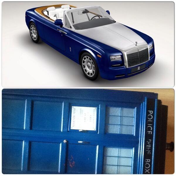 "@Deborah MaHarrey-Royce Motor Cars #RollsRoyceInColour ""TARDIS Blue"" pic.twitter.com/n44xD4xc9u"