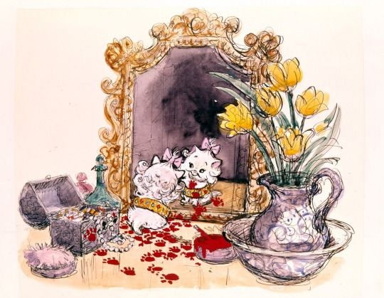 Visual Development from The Aristocats by Ken Anderson - Disney Concepts & Stuff