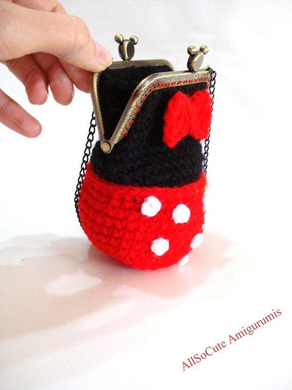 PATTERN Girls Bag / Purse Minnie mouse polka dot by AllSoCute