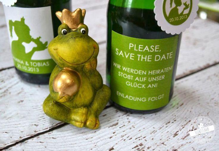 Froschkonig Karte Hochzeit Save The Date Und Hochzeitspapeterie