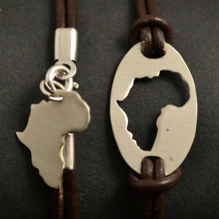 africa map bracelet