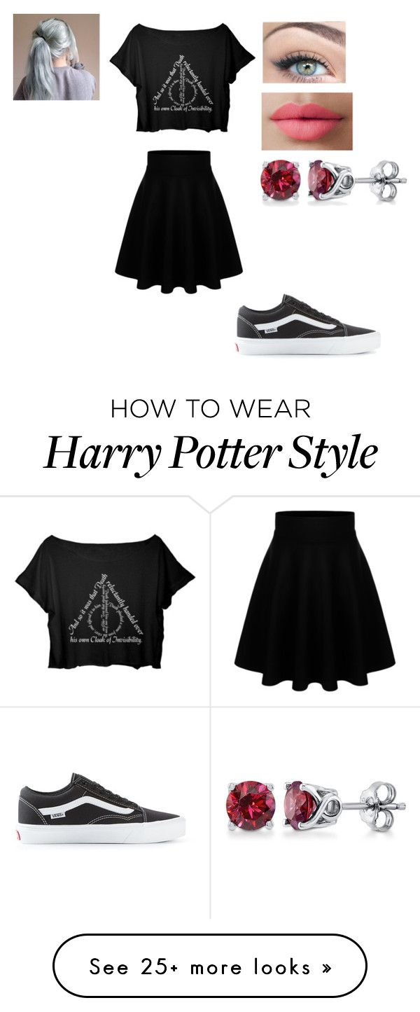 """""""Deathly Hallows."""" by pappagyus02 on Polyvore featuring Vans, LORAC and BERRICLE"""