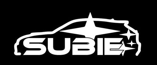 Subie Subaru Outline Jdm Vinyl Decal Sticker Custom