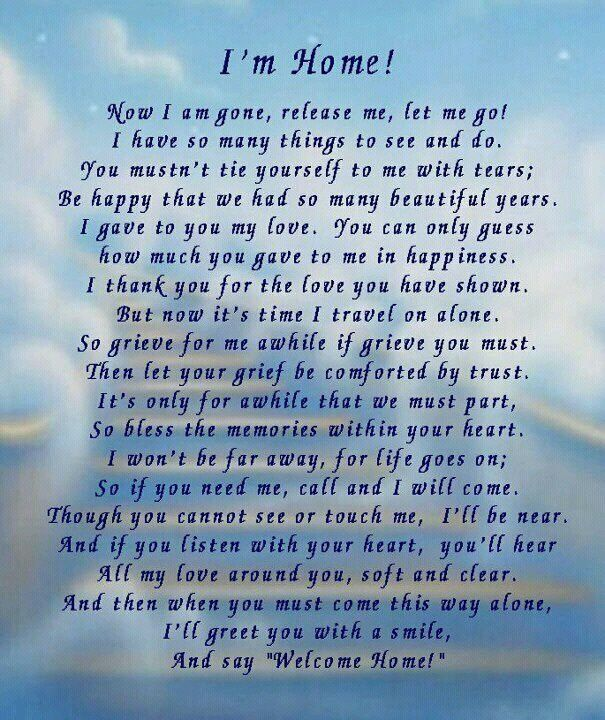 loss of a loved one poems | For my loved ones ...