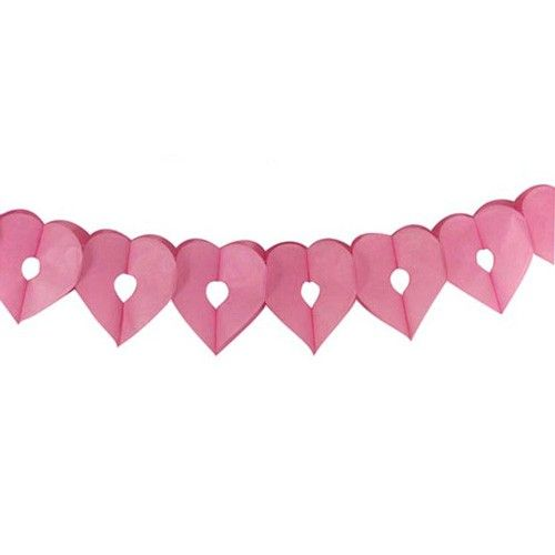 papieren slinger Hartjes http://www.langzalzeleven.com/a-34102652/feestartikelen-roze/papieren-slinger-hartjes/