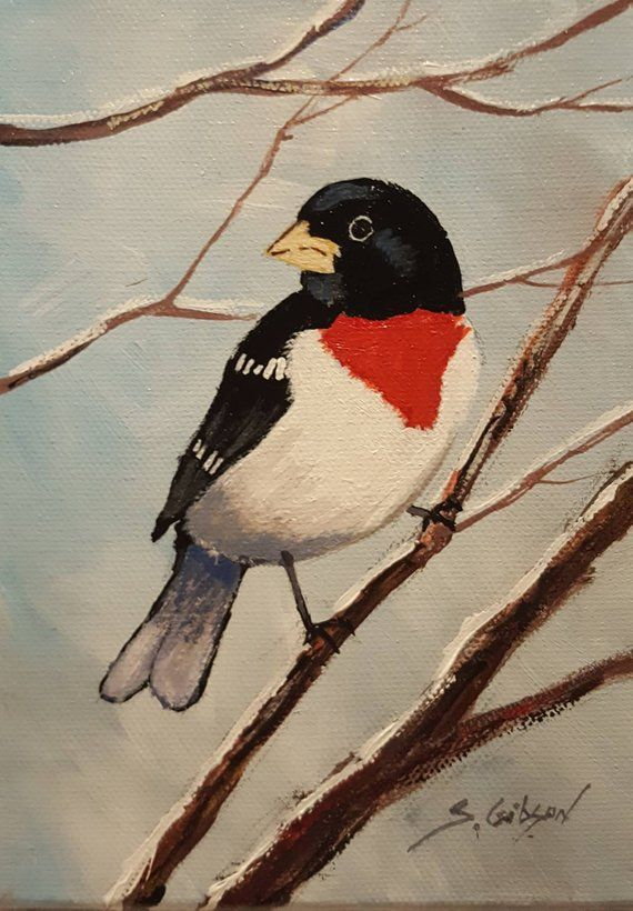 Rose Breasted Grosbeak Art Fine Art Auctions Painting