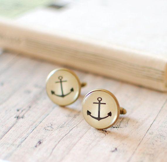 For Him! Nautical Wedding. Anchor Cufflinks. Nautical Cufflinks. Summer by JujuTreasures, $21.00