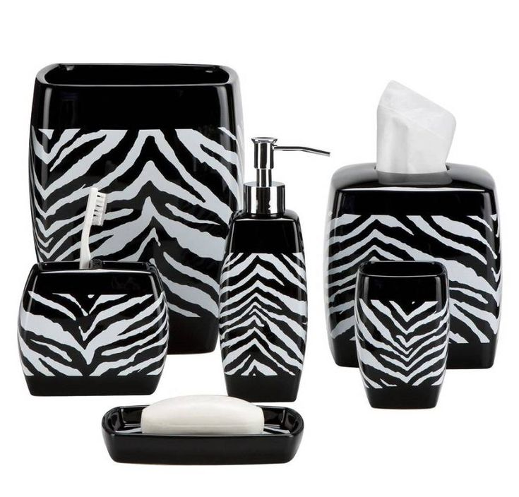 Zebra Print Bath Accessories: Finding the Best Zebra Print Bathroom Sets | Shower Remodel