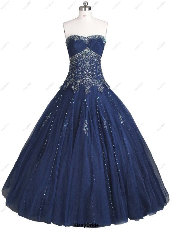 Hey, I found this really awesome Etsy listing at https://www.etsy.com/listing/154217750/navy-wedding-dress-navy-wedding-ball
