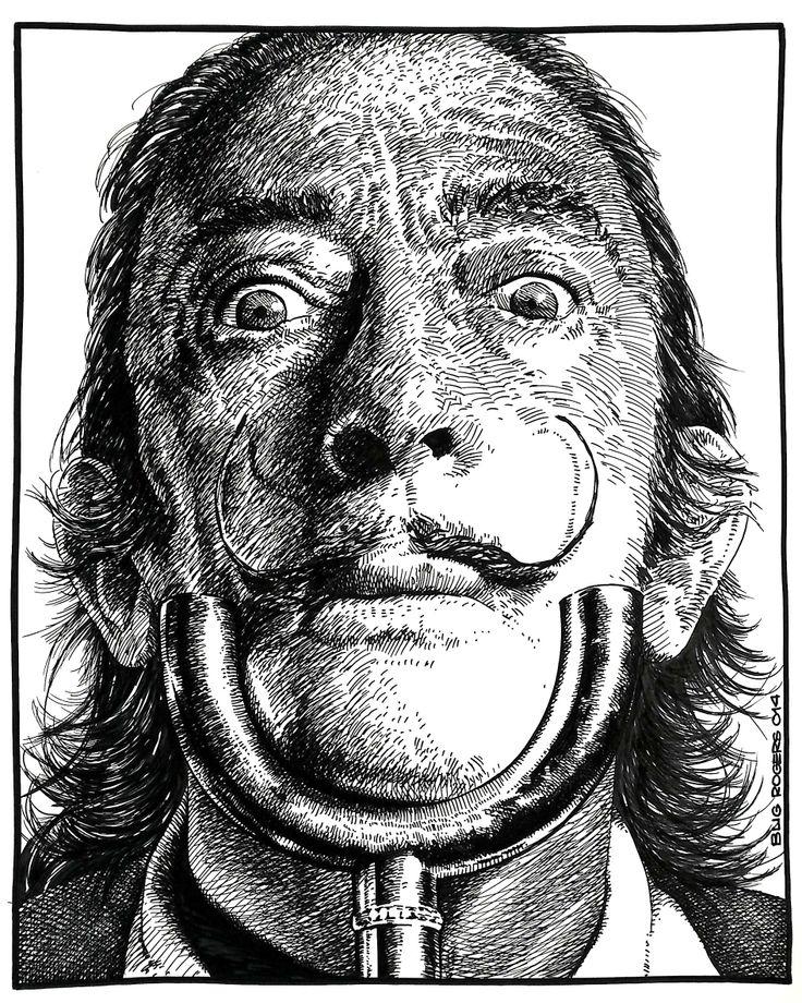 Salvador Dali Tribute by EnricBug