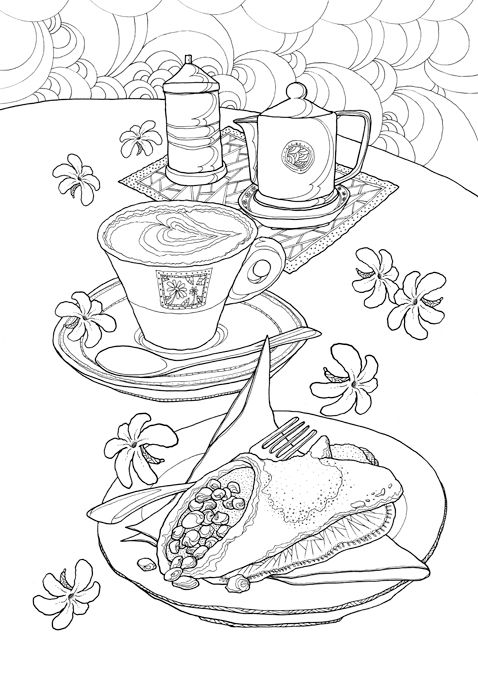 Coloring Europe : Bella Italia I Waves of Color --> For the best adult coloring books and supplies including watercolors, colored pencils, gel pens and drawing markers, please visit http://ColoringToolkit.com. Color... Relax... Chill.