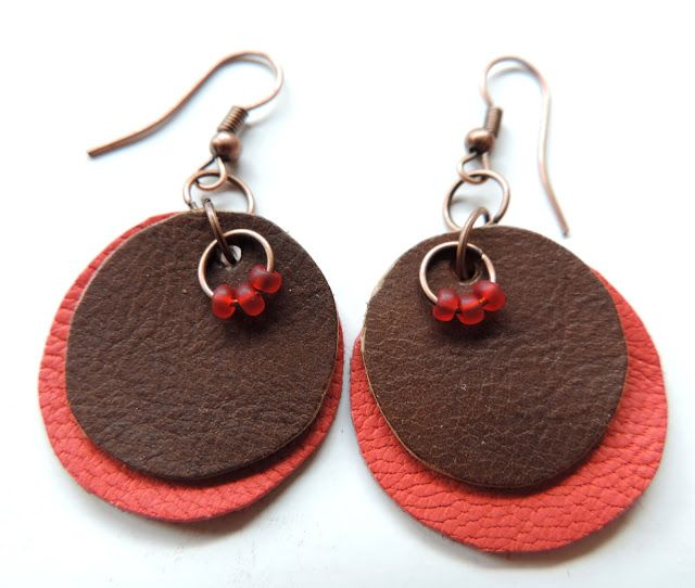 (un)intentional contemporary art in Transylvania: Round leather earrings