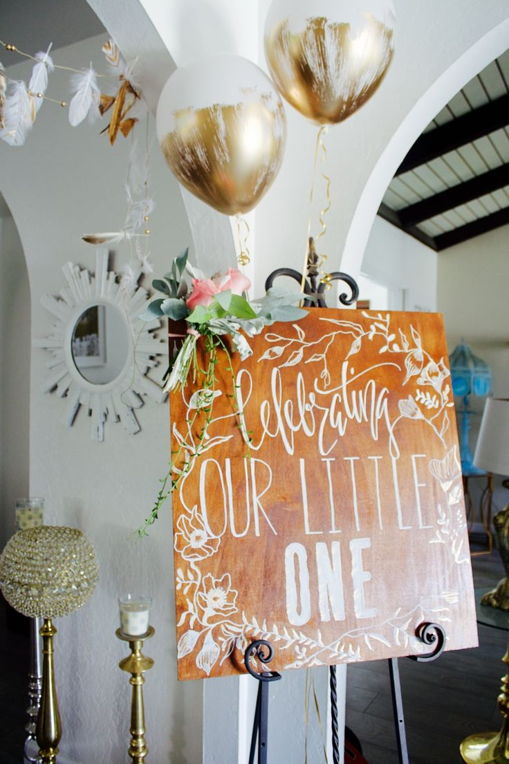 First birthday party (thrown with the help of a @thumbtack party planner)