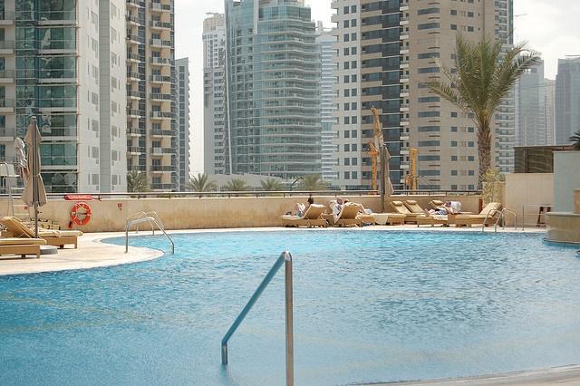 Pool at the Grosvenor House Dubai hotel by thepurplepassport, via Flickr