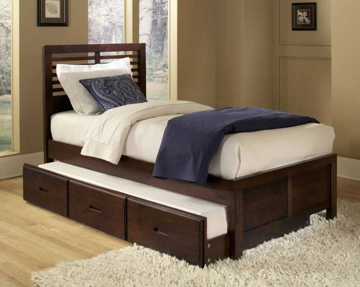 Sweet Brown Color Scheme Driftwood Bed Frames With Rectangle Shaped Soft Mattress That Have Blue Bedding Complete With The Pillows Also Minimalist Style Rectangle Shaped Headboard Decorating Ideas Best Collections of the Driftwood Bed Frame Designs Furniture