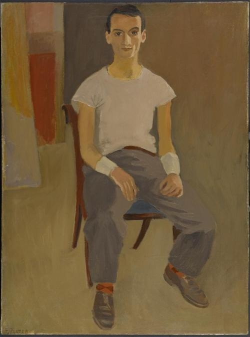 Fairfield Porter, Portrait of Larry Rivers, c. 1951