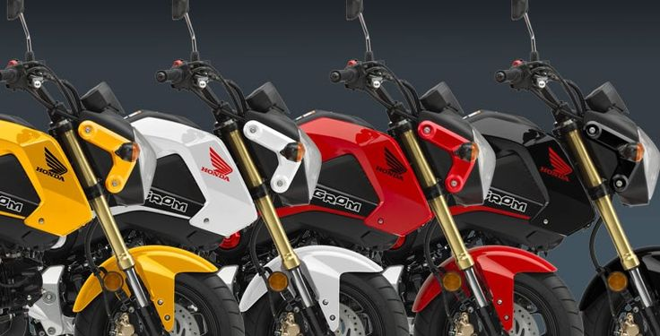 For just $3199 The Honda Grom has probably put smiles on more people's faces than just about anything in the recent motorcycle world. And it's easy to see why: This little pocket rocket may only displace 125cc, but its fun factor is off the charts. It's a blast to ride—you get all the excitement and freedom of a motorcycle, but because it's so user friendly and approachable there's just about zero intimidation. Best of all, some fresh new graphics and colors make the 2015 Grom even cooler.