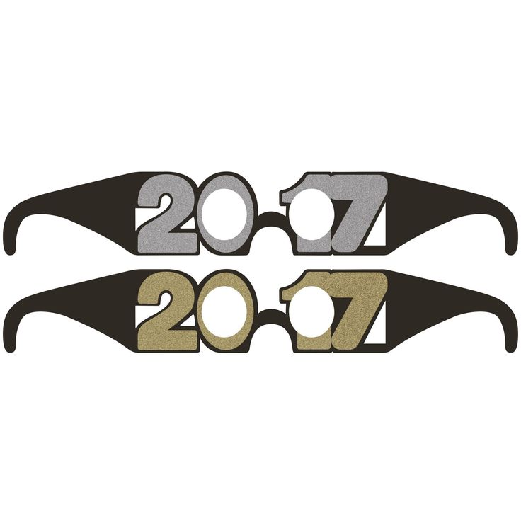 Descriptions 2017 Paper Wearable Glasses - Design : New Year Decorations Features - New Year Ships within 4 Business Days