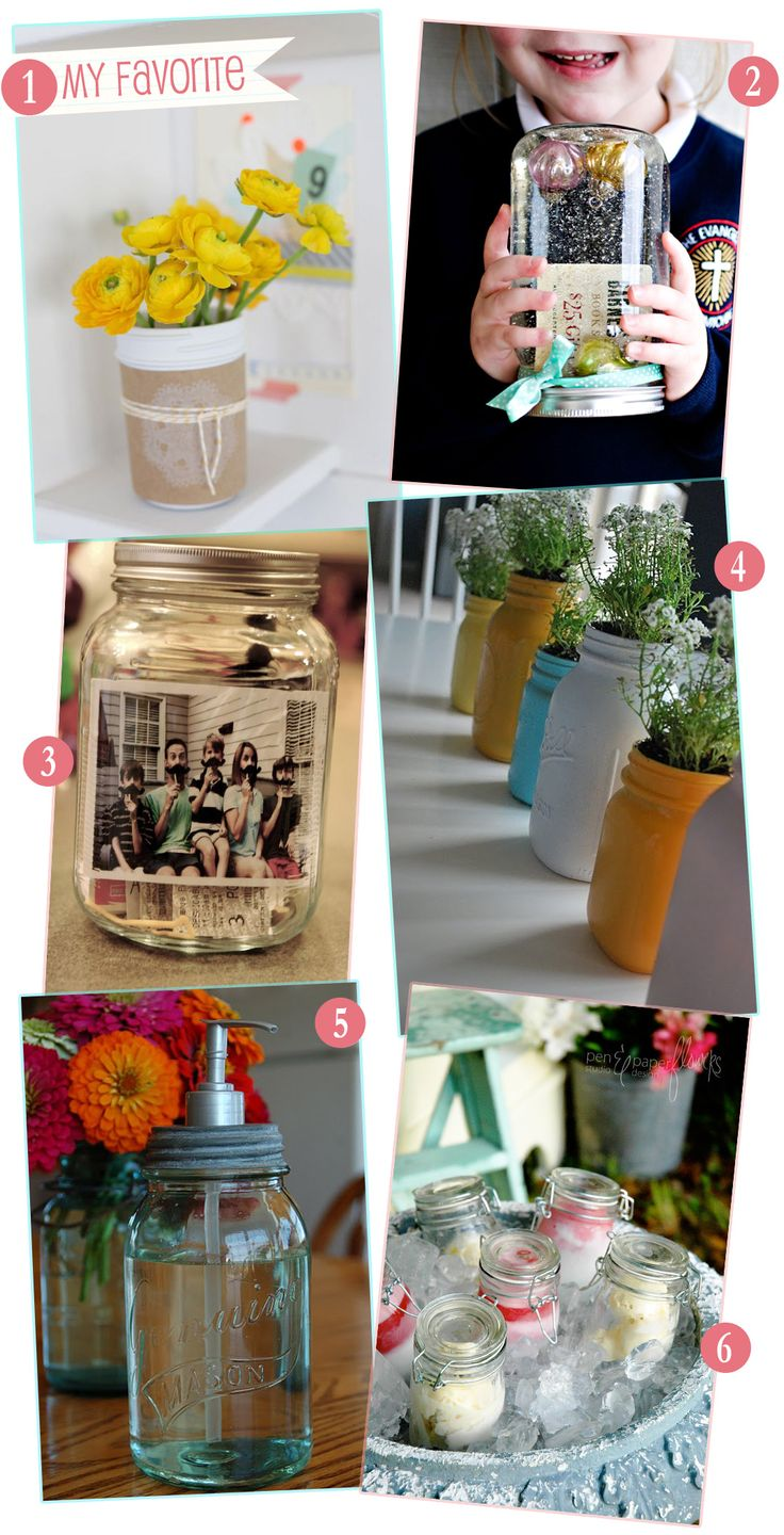 An adorable way to upcycle a plain glass mason jar. I love the