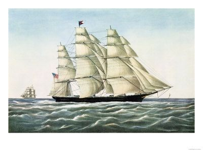 Flying Cloud enroute to San Francisco. - Currier and Ives 1852