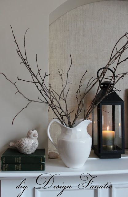 diy Design Fanatic: Winter Mantel
