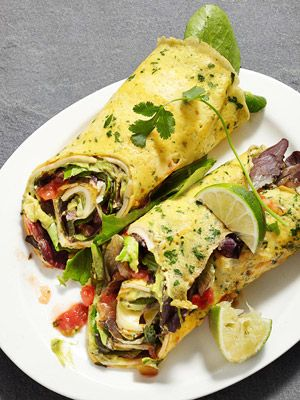 Omelet wrap...where the egg IS the wrap! Brilliance for breakfast. #health #food #recipe