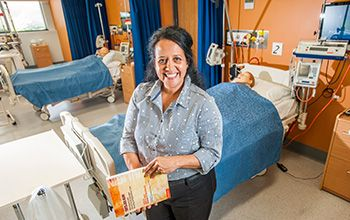 Raelene Ward (Master of Health, 2010; Bachelor of Nursing, 1997) is a USQ alumna, USQ lecturer and now co-author of an award-winning book titled Yatdjuligin: Aboriginal and Torres Strait Islander Nursing and Midwifery Care.