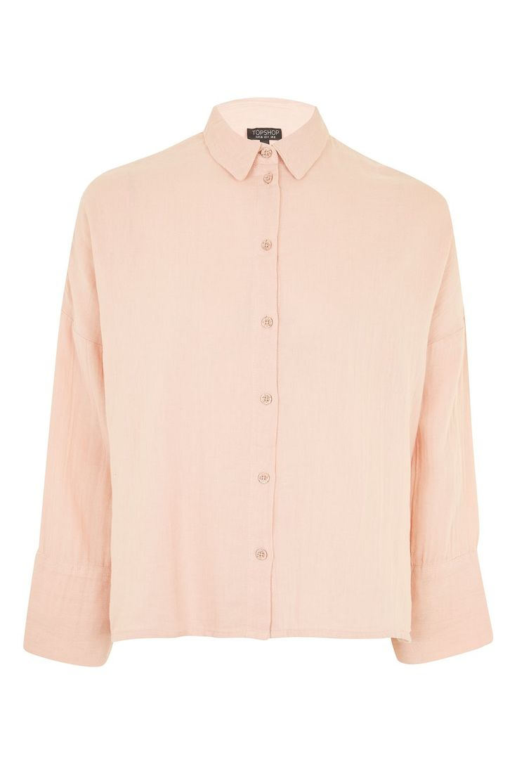 Gauzy Crinkle Shirt   Topshop