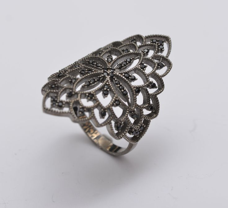 A personal favourite from my Etsy shop https://www.etsy.com/listing/278954240/elegant-lace-ring-silver-lace-ring-with