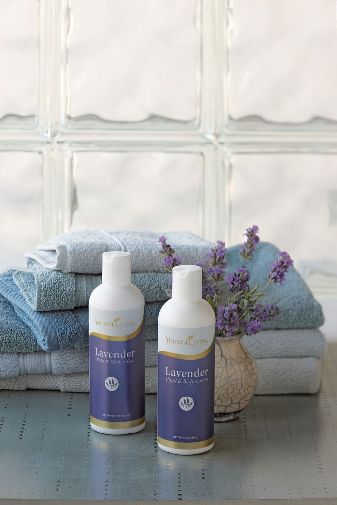 Young Living's Lavender Body Care - Bath & Shower Gel and Hand & Body Lotion.