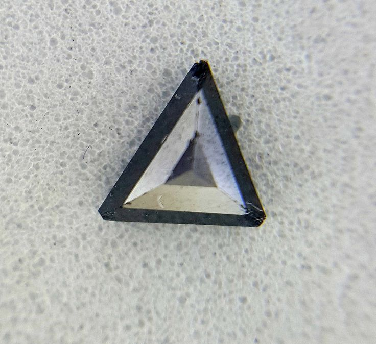 0.39TCW Triangle shape Jet Black AAA color 4.5 x 6.0 x 2.5 mm Loose Natural Diamond for ring by Fancycolorsdiamond on Etsy
