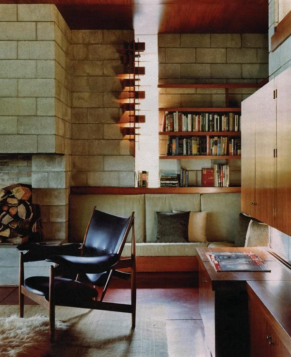 51 Modern Living Room Design From Talented Architects: Restoration Of Frank Lloyd Wrights' Luis