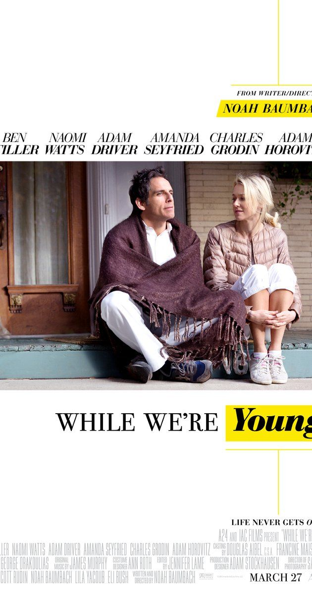 Directed by Noah Baumbach.  With Ben Stiller, Naomi Watts, Adam Driver, Amanda Seyfried. A middle-aged couple's career and marriage are overturned when a disarming young couple enters their lives.
