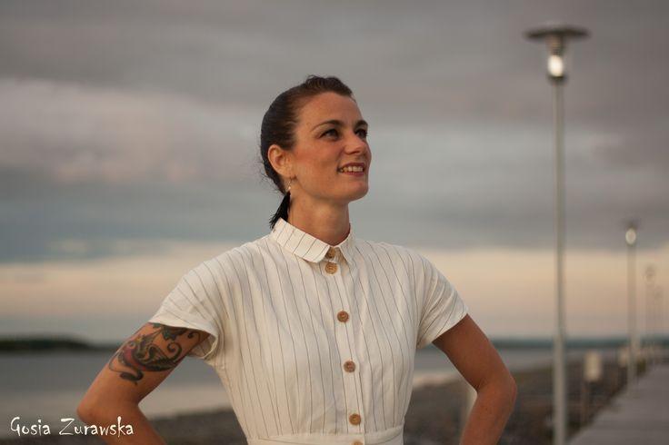 Sandra Klack wearing Comely Bop